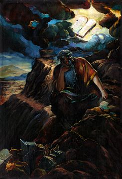 Moses at Sinai